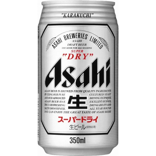 Asahi Super Dry Beer 350ml Can